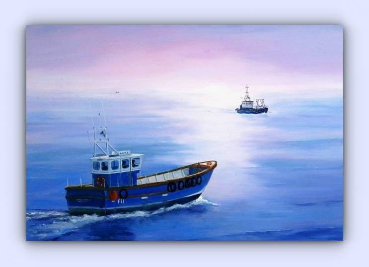 Fishing boat F11 Speedwell (oil on canvas)