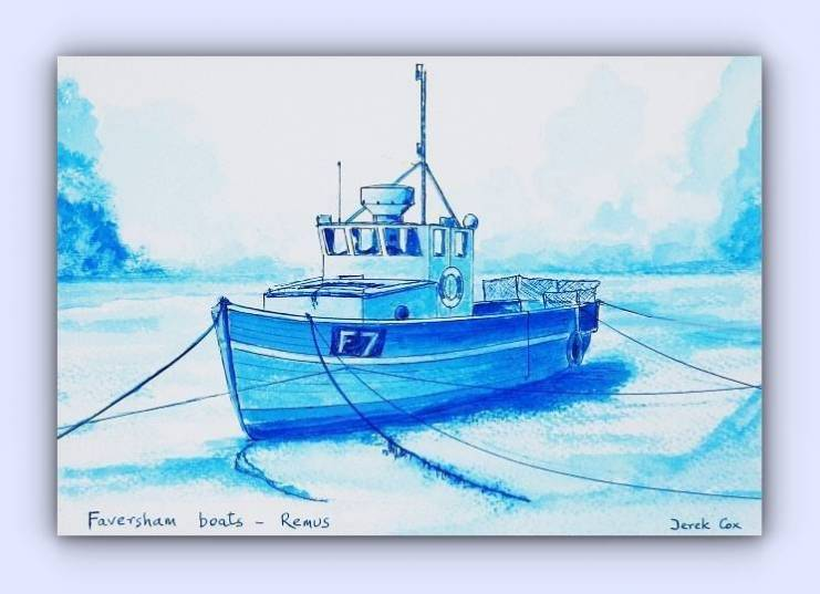 Fishing boat F7 Remus (ink)