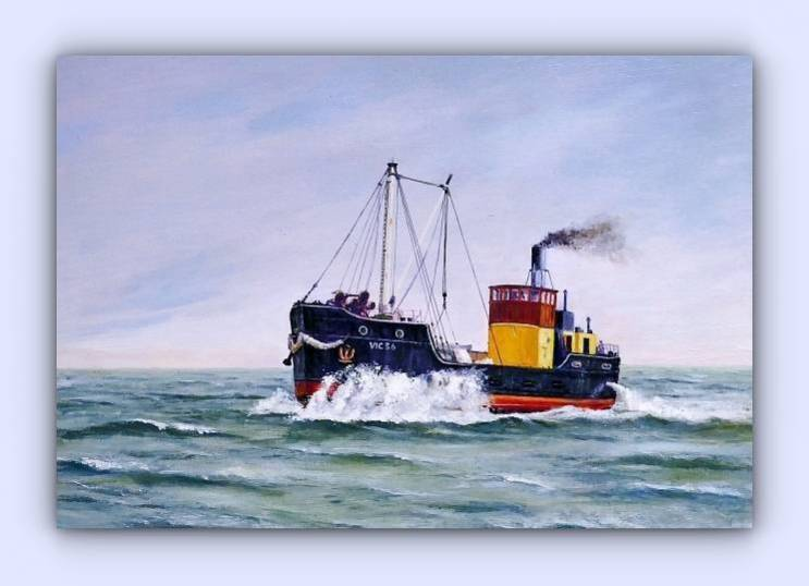 Coastal craft VIC 56 (oil on canvas)