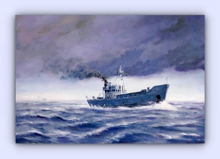 Coastal craft Seafox (oil on canvas)